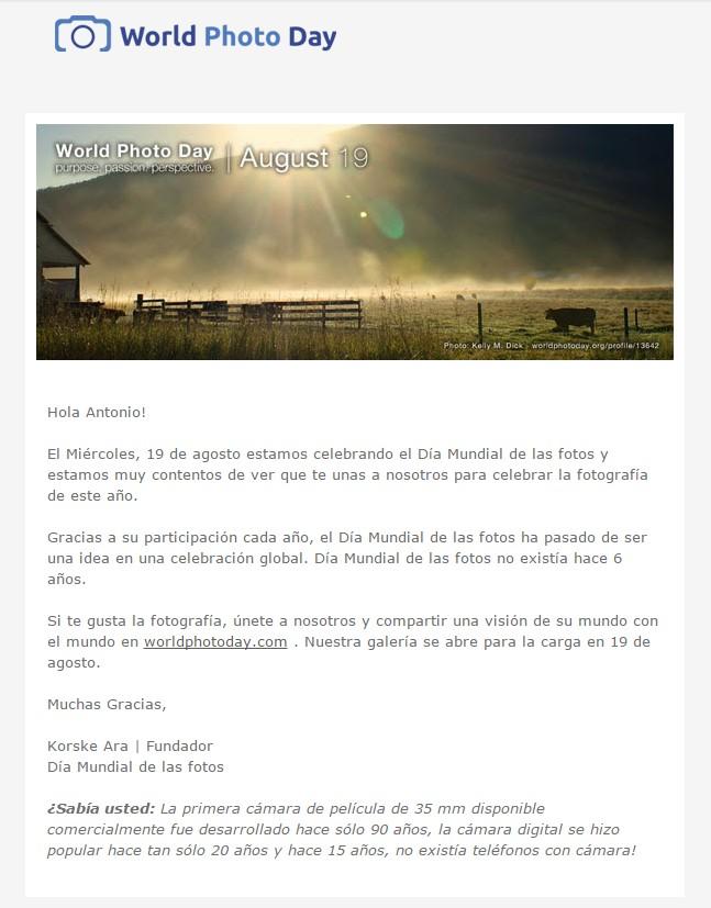 Carta participación Día de la Fotografía